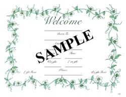 Homebirth birth certificate this birth certificate is full color with bright red poppies celebrating the beautiful miracle that is your babys birth printed on 8 12x11 semi gloss yadclub Image collections